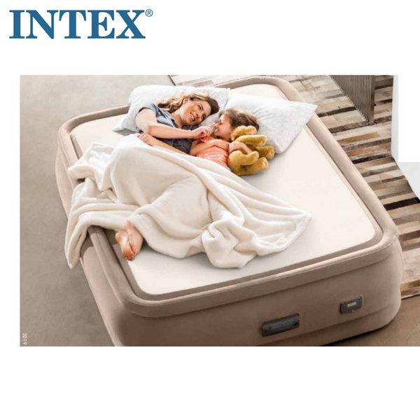 Intex Надуваем матрак с помпа PremAire ThermaLux 152х203см Fiber-Tech Technology 64936