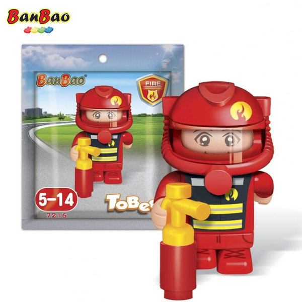 BanBao Строител 5+ Мини фигура пожарникар 7216