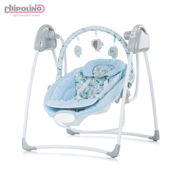 Електрическа бебешка люлка-шезлонг Парадайз синя панделка