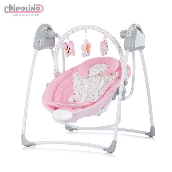 Електрическа бебешка люлка-шезлонг Парадайз розова панделка