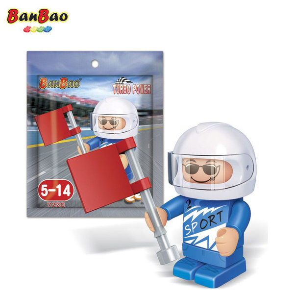 BanBao Строител 5+ Мини фигура рали състезател 7220