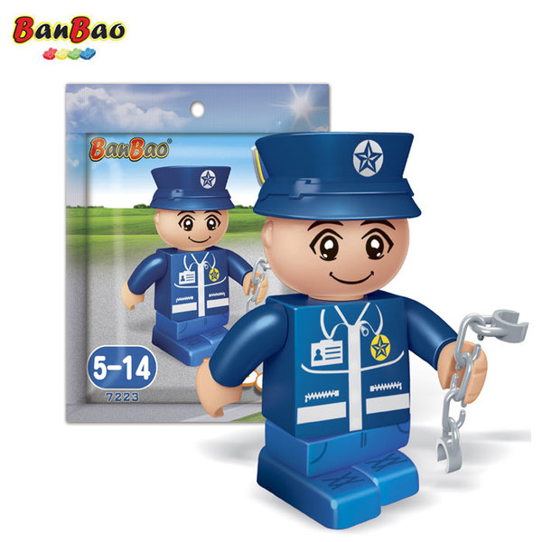 BanBao Строител 5+ Мини фигура полицай 7223
