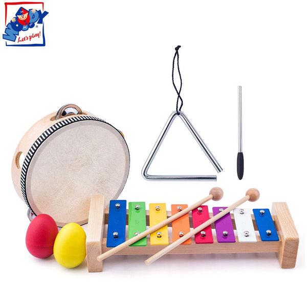 Woody Комплект дървени инструменти Малкия музикант 91893