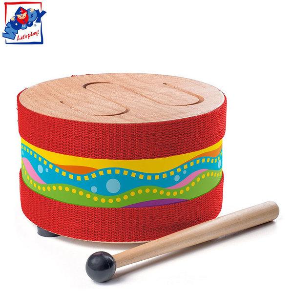 Woody Детски дървен барабан Мексико 91895