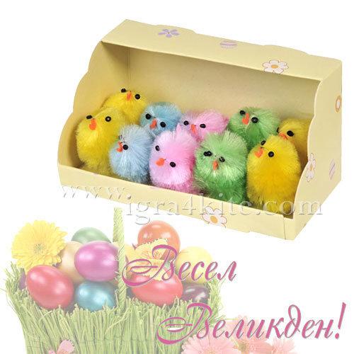 Великденска украса - Великденски пиленца 10бр. 32124