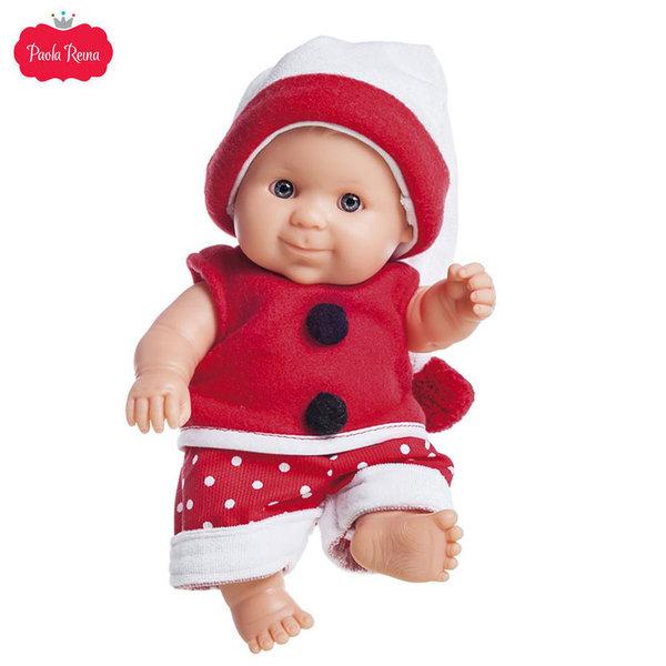 Paola Reina Los Peques Кукла бебе Aldo с коледни дрешки 21см 01266