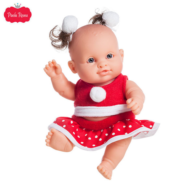 Paola Reina Los Peques Кукла бебе Irina с коледни дрешки 21см 01269