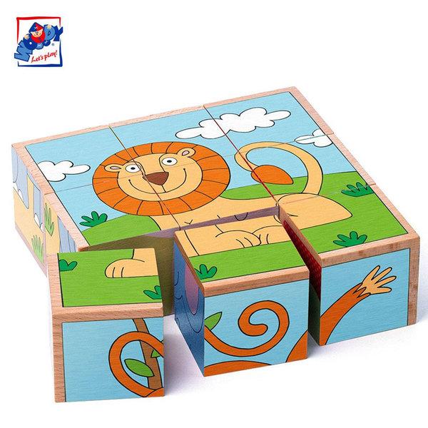 Woody Дървени кубчета Диви животни 93056