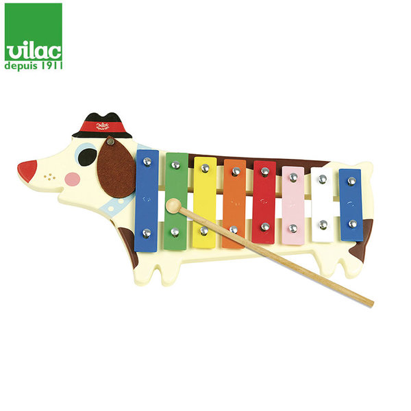 Vilac Детски ксилофон куче, дизайн Ingela P. Arrhenius 7757