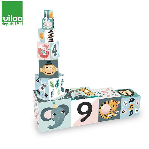 Vilac Детски кубчета Animals nesting, дизайн Michelle Carlslund 8501