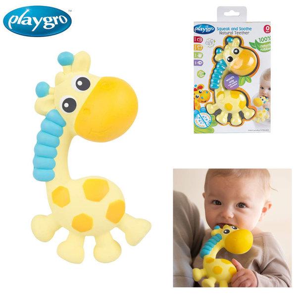 Playgro Гризалка-пискун от каучук Жирафчето Джери PG-0342