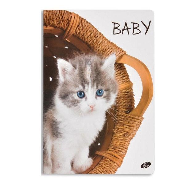 Elisa Тетрадка А5, 60 листа с широки редове Baby коте 6463
