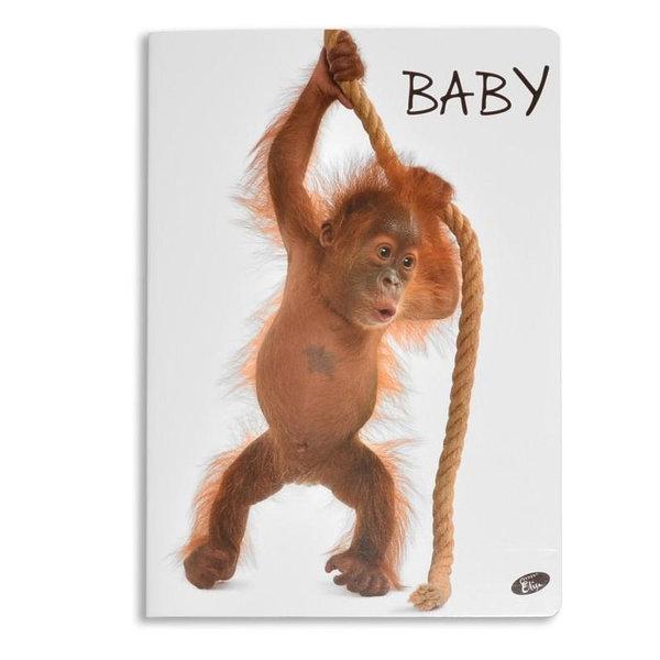 Elisa Тетрадка А5, 60 листа с широки редове Baby маймунка 6463