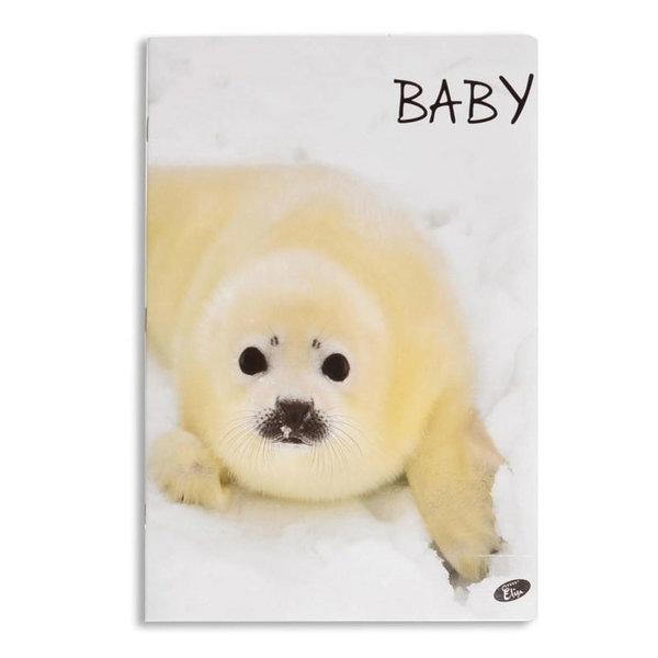 Elisa Тетрадка А5, 60 листа с широки редове Baby тюлен 6463