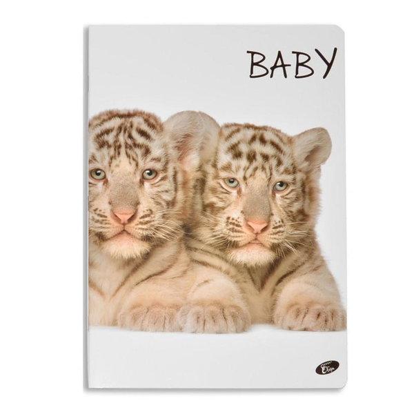 Elisa Тетрадка А5, 60 листа с широки редове Baby тигърчета 6463