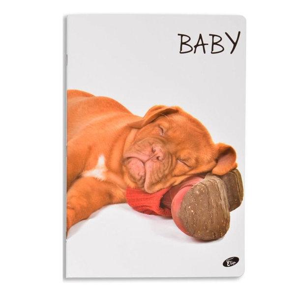 Elisa Тетрадка А5, 60 листа с широки редове Baby куче 6463