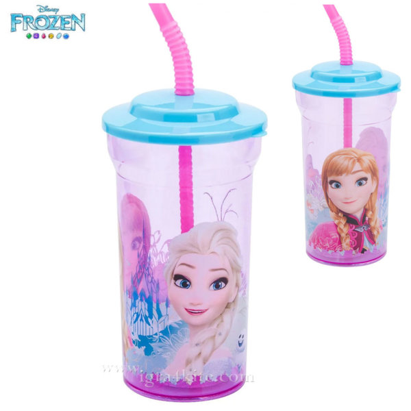 Disney Frozen Детска чаша със сламка Frozen 13207