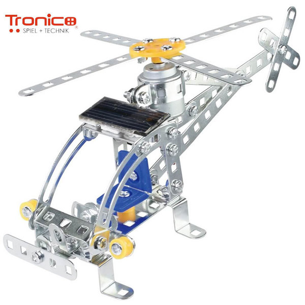 Tronico Детски метален конструктор със соларна батерия Хеликоптер Silver 9735