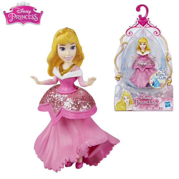 Disney Princess Мини кукла Аврора Royal Clips Fashion E3049
