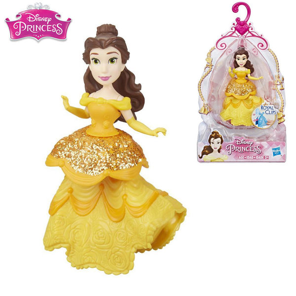 Disney Princess Мини кукла Бел Royal Clips Fashion E3049