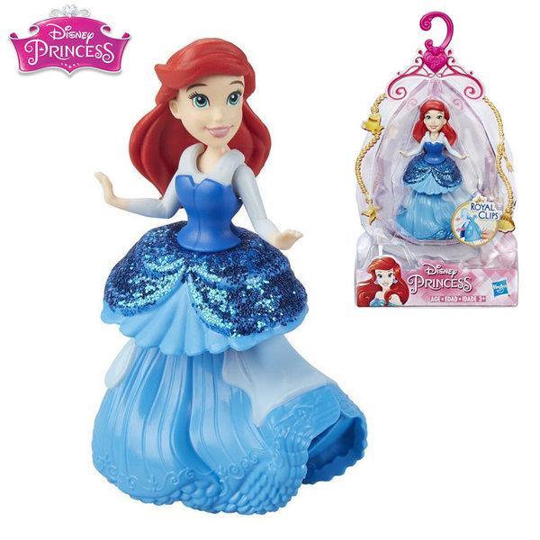 Disney Princess Мини кукла Ариел малката русалка Royal Clips Fashion E3049