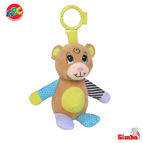 Simba Плюшена дрънкалка за закачане Мече 104010128
