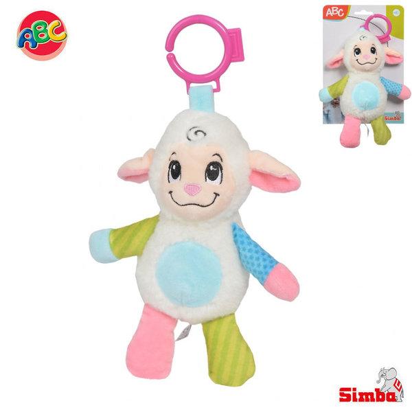 Simba Плюшена дрънкалка за закачане Овца 104010128
