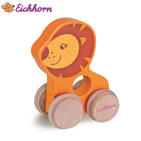 Eichhorn Дървено лъвче на колелца 100003736