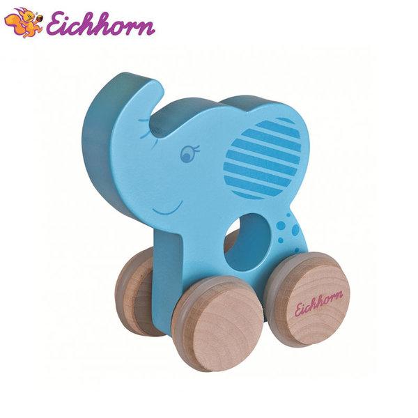 Eichhorn Дървено слонче на колелца 100003736