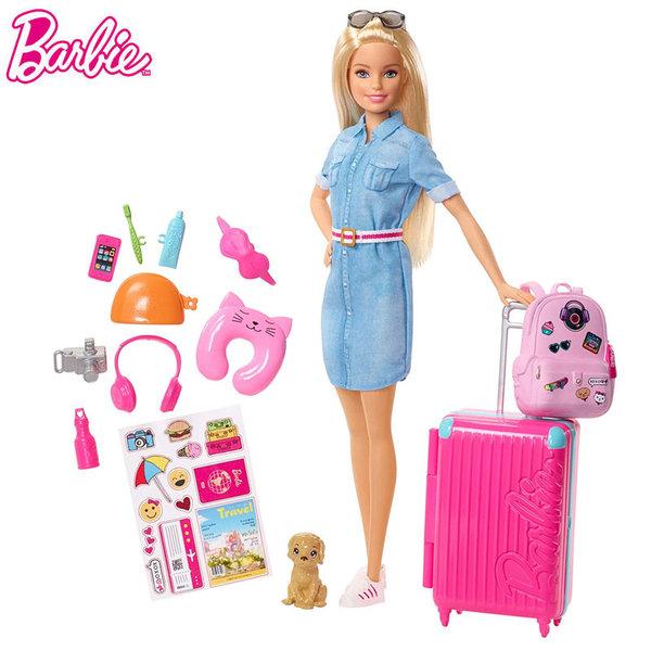Barbie Кукла Барби пътешественичка FWV25
