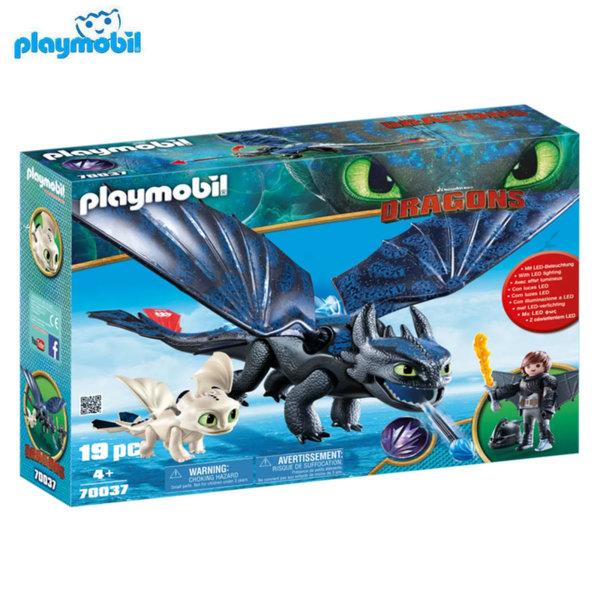 Playmobil Хълцук и Беззъб с бебе дракон 70037