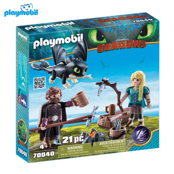 Playmobil Хълцук, Астрид и бебе дракон 70040