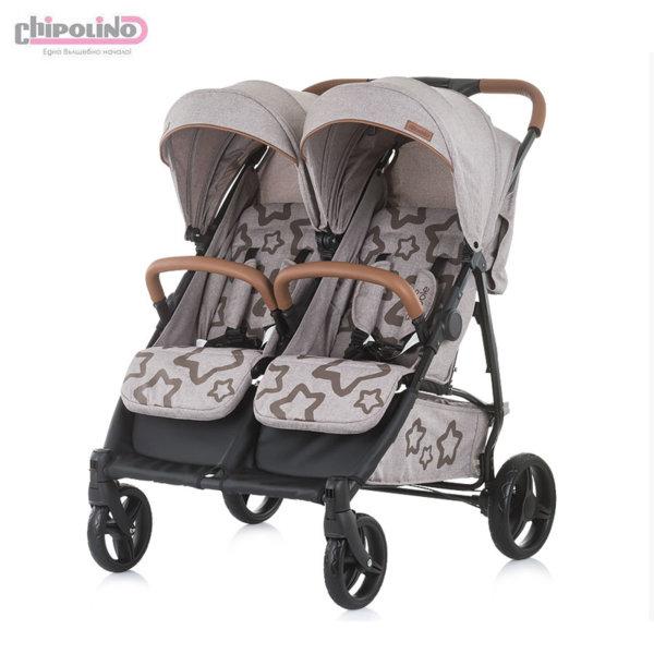 Chipolino Количка за близнаци Пасо Добле карамел