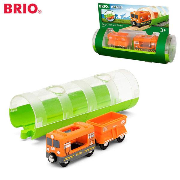 Brio Товарен влак с тунел 33891