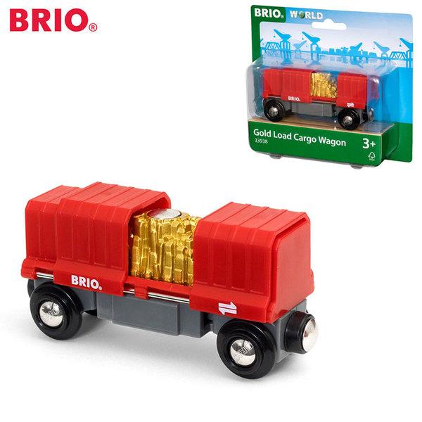 Brio Карго вагонче със злато 33938