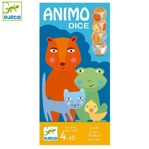 Djeco Детска игра с дървени зарчета Animo Dice DJ08475