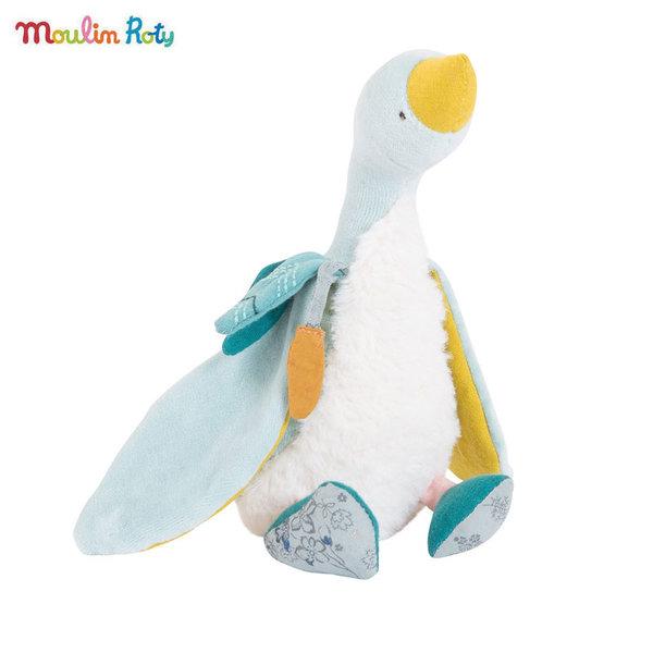 Moulin Roty Плюшена играчка синята гъска Plumette, Le voyage d'Olga 714021