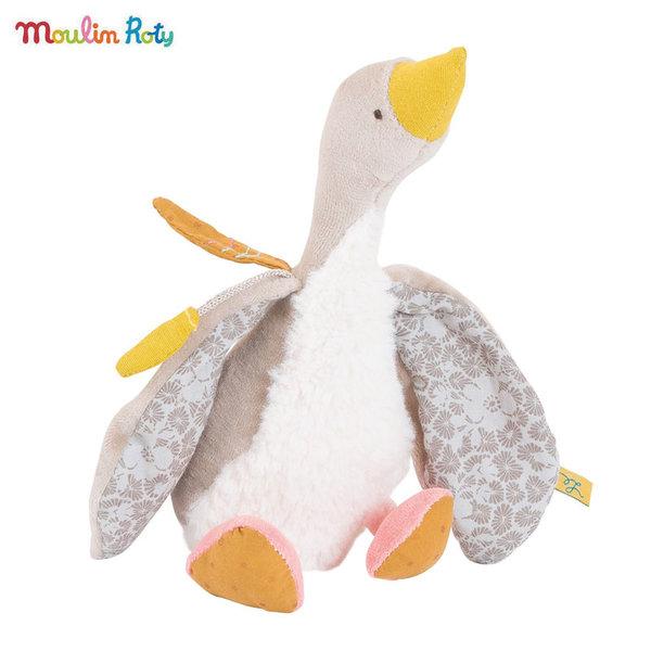 Moulin Roty Плюшена играчка сивата гъска Flеchette, Le voyage d'Olga 714022