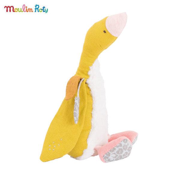 Moulin Roty Плюшена играчка жълтата гъска Bambou, Le voyage d'Olga 714023