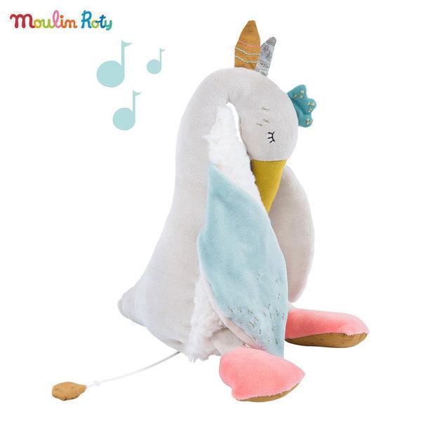 Moulin Roty Муизкална плюшена играчка голямата гъска Olga, Le voyage d'Olga 714043