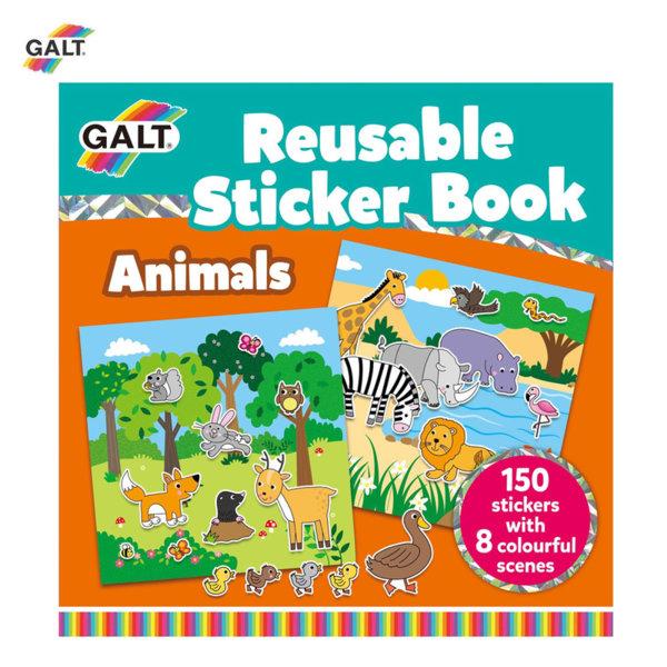GALT Книжка със стикери животни 1005098