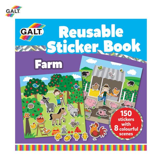 GALT Книжка със стикери ферма 1005104