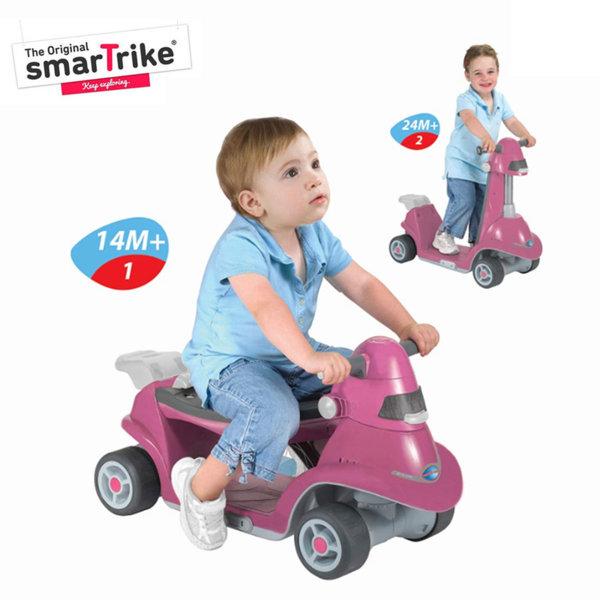 Smart Trike Кола за яздене и тротинетка 2в1 розова 3811706
