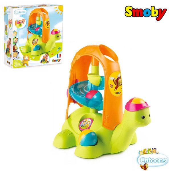 Smoby Детски ролбан Костенурка с топки 110414