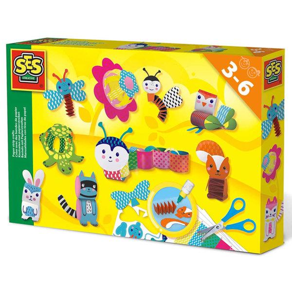 SES Creative Направи животни с ленти от хартия 14648
