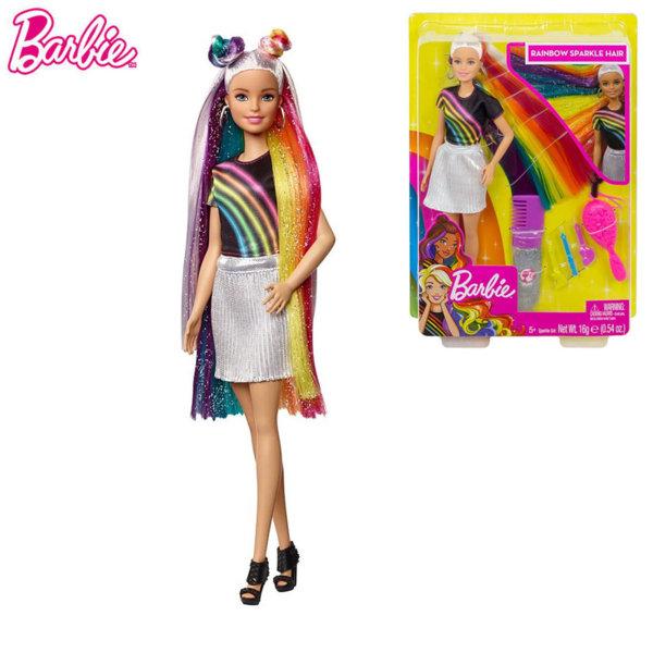 Barbie Кукла Барби Фризьорски салон Цветовете на дъгата FXN96