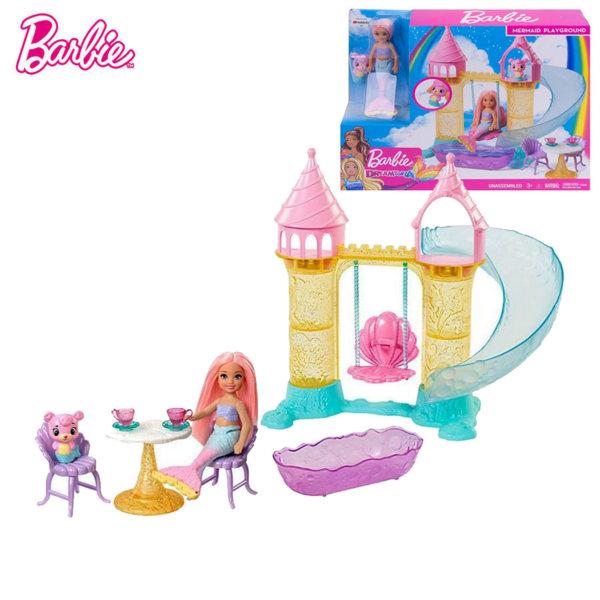 Barbie Кукла Челси с пясъчен замък FXT20