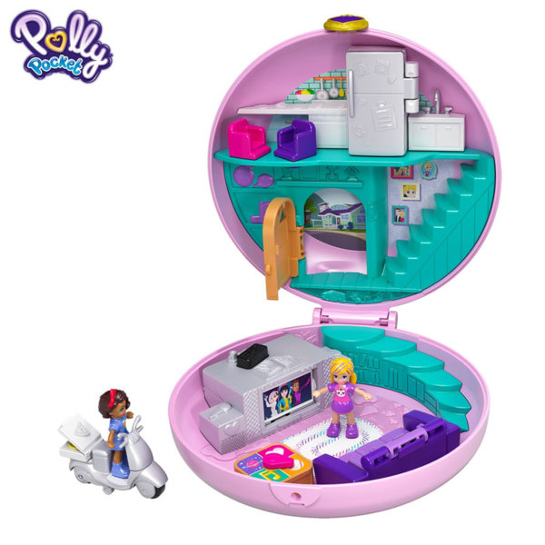 Polly Pocket Комплект за игра Светът на Поли Пижамено парти FRY35