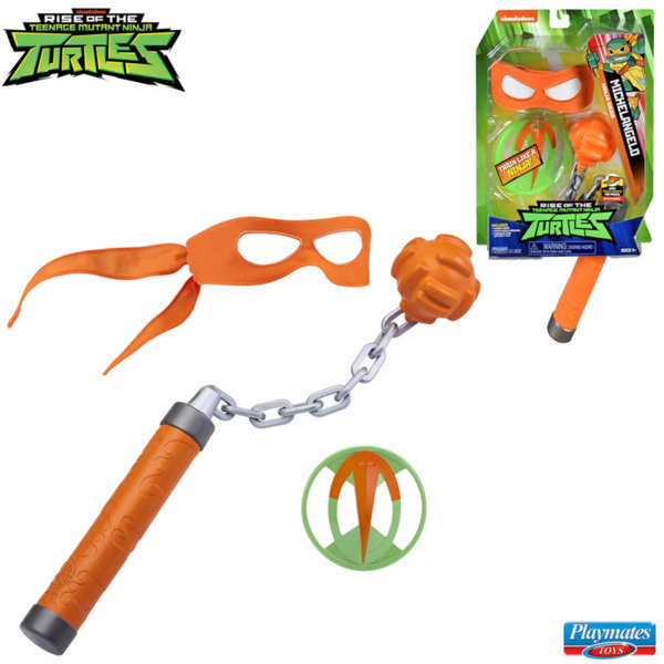 TMNT Костенурките нинджа Комплект оръжие с маска Michelangelo 82050