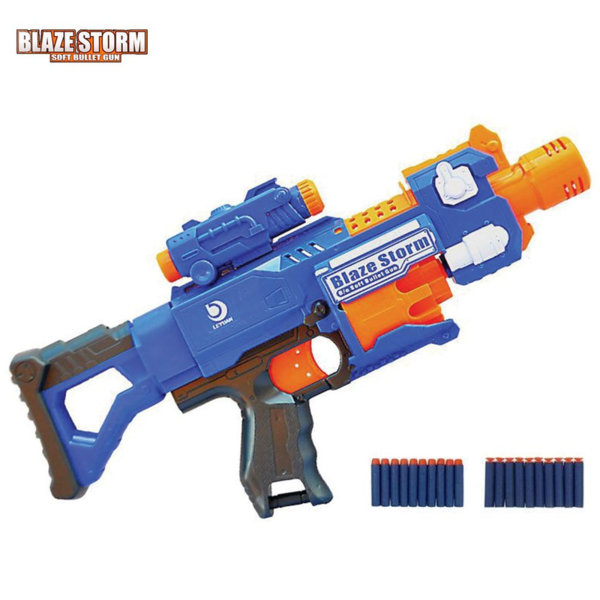 Blaze Storm Бластер с мерник и приклад и стрели BARRICADE RV-10 7055